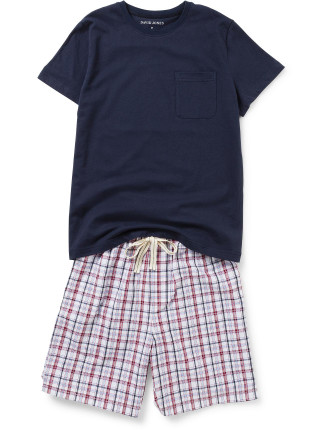 Ss Tee And Woven Short