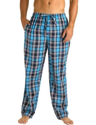 Blue Check Yarn Dyed Sleep Pant