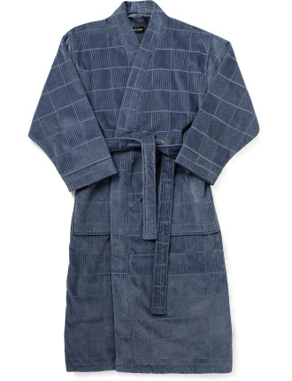 Textured Check Robe
