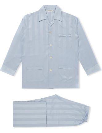 Lingfield Satin Stripe Long Pyjama Set