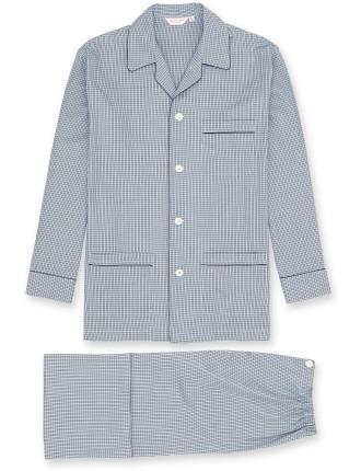 Barker 2 Blue Men'S Ew Piped Pyjama Set