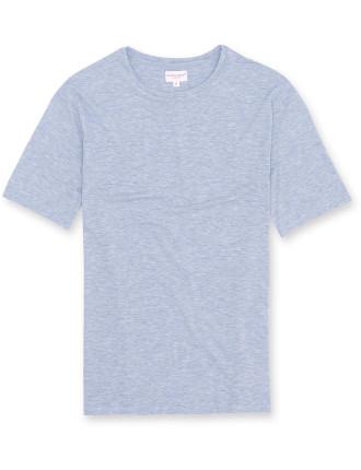 Ethan 1 Blue Men'S S/S R/N T-Shirt