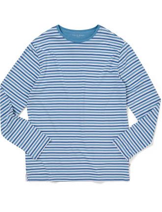 Dylan 2 Aqua Men'S L/S R/N T-Shirt