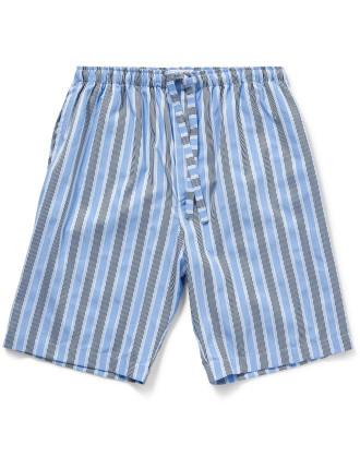 Mayfair 66 Pure Cotton Satin Stripe Lounge Shorts