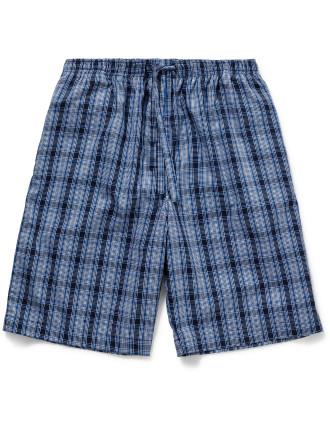 Barker 4 Pure Cotton Check Lounge Shorts