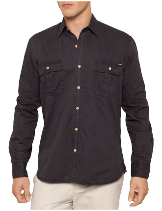 Long Sleeve Skipton Twin Pocket Twill Work Shirt