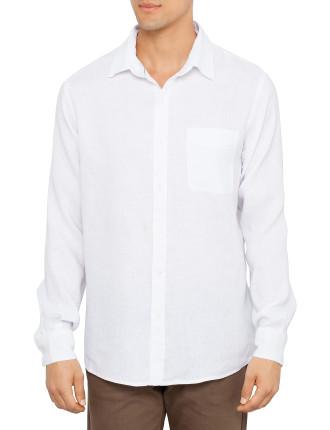 Solid Linen Long Sleeve Shirt