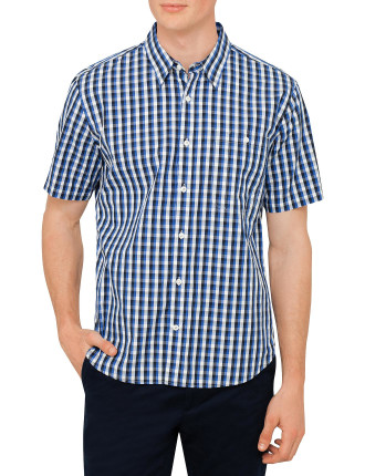 Smith One Pocket Small Check S/S Shirt