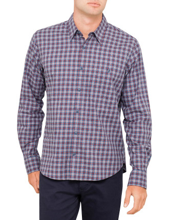 Stanton Brushed Flannel Check Long Sleeve Shirt