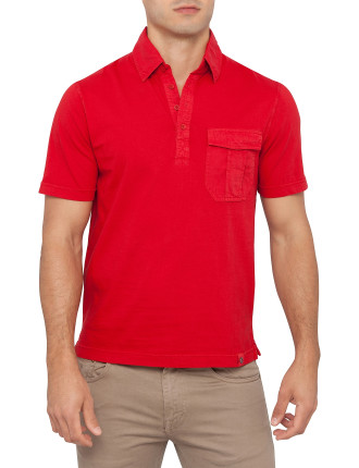 Thompson Short Sleeve Single Pocket Knitted Polo