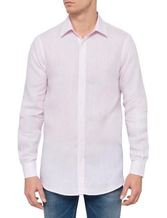 L/S Solid Linen Shirt