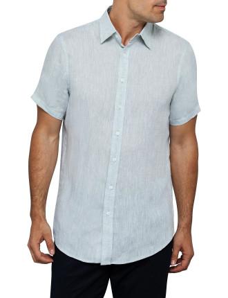 Ss Solid Linen Shirt