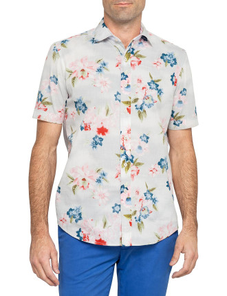 Short Sleeve Bolinas Point Print Shirt