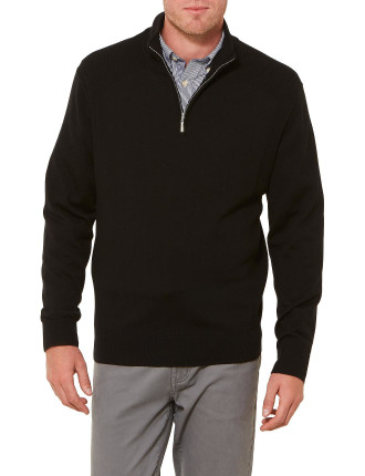 Berkshire Merino 1/2 Zip Knit