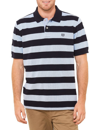 Short Sleeve Joshua Stripe Pique Polo