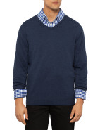 Brad Cotton Classic V Neck Knit $47.97