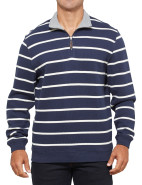 Auto Stripe French Rib Sweater $99.95