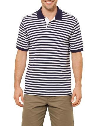 Short Sleeve Oliver Stripe Polo