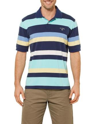 Short Sleeve Matthew Multi Stripe Polo