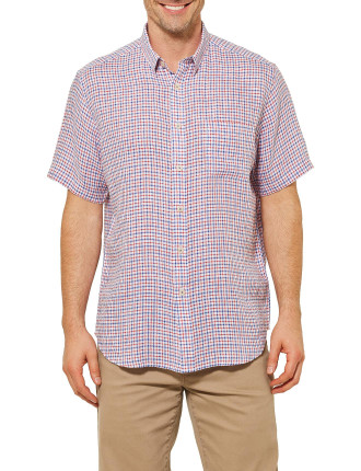 Short Sleeve Henry Check Shirt