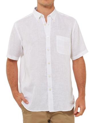 Short Sleeve Douglas Pure Linen Shirt