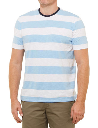 Short Sleeve Johnny Block Stripe Tee