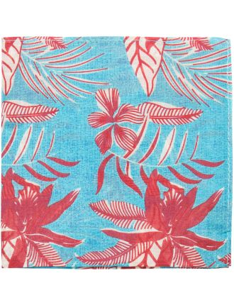 Orchid Print Pocket Square