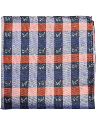 Palm Tree Check Pocket Square