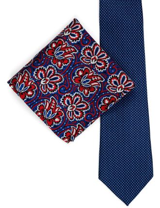 Spot & Geo Tie And Pocket Square Set