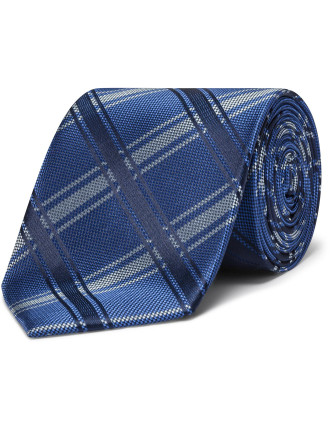 Exploded Plaid Check Tie