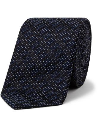 Top Stitch Stripe Tie
