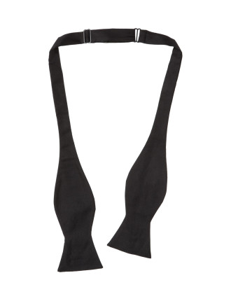 Tie Your Own Plain Silk Bow Tie