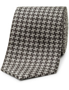 175th Anniversary Self Pattern Houndstooth Jacquard Tie $59.95