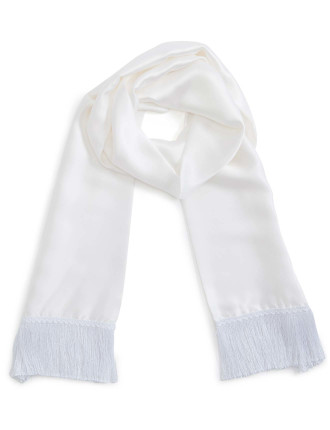 Cream Silk Scarf