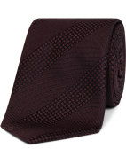 Self Stripe Design Jacquard Tie $149.00