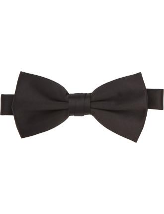 Baronet Pre-tied Black Bow Tie