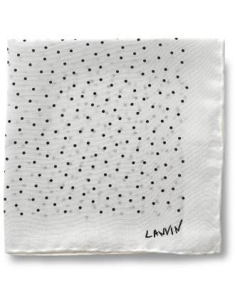 Lanvin Polka Dot Pocket Square