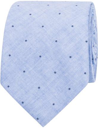 Chambray Spot Tie