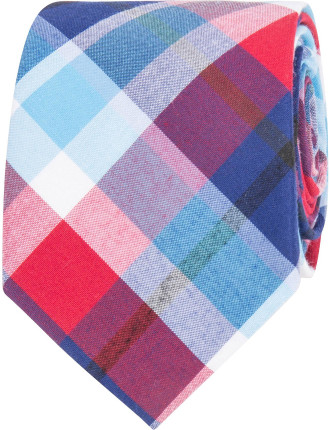 Multi Coloured Check Tie