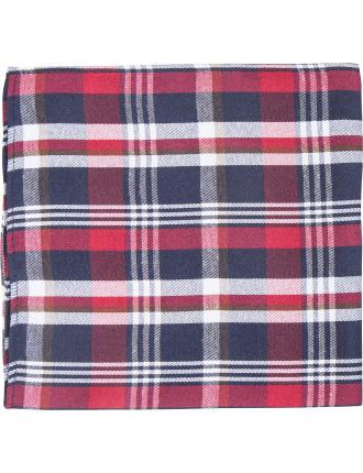 Plaid Check Pocket Square