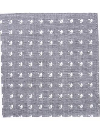 Umbrella Print Pocket Square