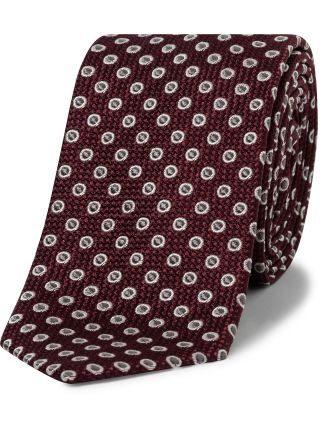 Spot Woven Tie