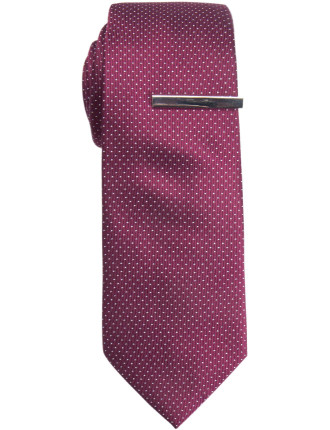 Tie & Tie Bar - Micro Spot