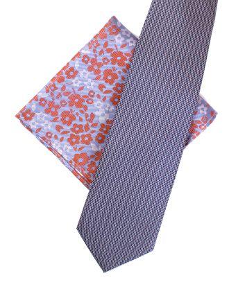 Loop Design Tie & Floral Pocket Square