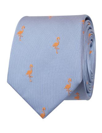 Flamingo Motif Tie