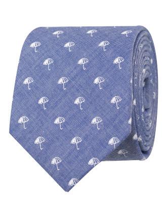 Umbrella Motif Tie