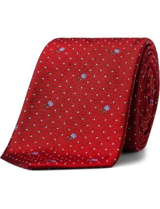 Floral Spot Tie