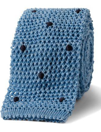 Knit Spot Tie