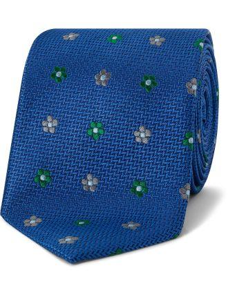 Spaced Textured Floral Tie