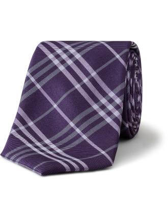 Wide Check Tie